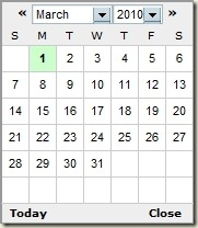 simple jQuery date-picker